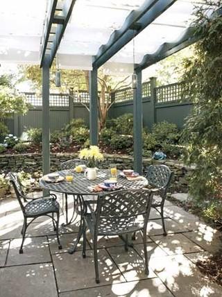 田园风格饭店单身公寓设计图简洁卧室露台花园设计图