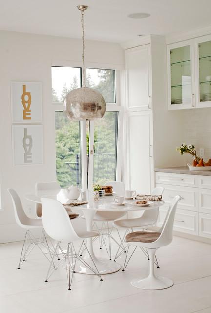 现代简约风格卧室单身公寓浪漫婚房布置快餐桌效果图