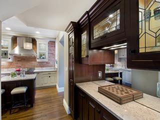新古典风格单身公寓中式古典风格橱柜效果图