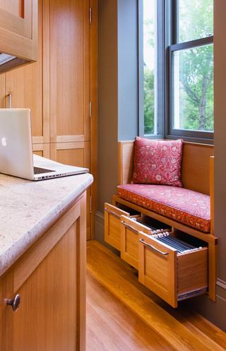美式乡村风格客厅复式公寓大气收纳柜效果图
