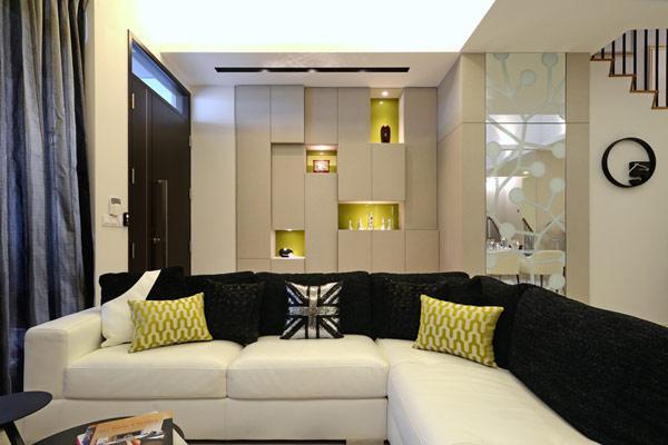 现代简约风格跃层简洁客厅装修