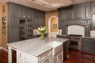 混搭风格小户型公寓稳重大理石餐桌图片