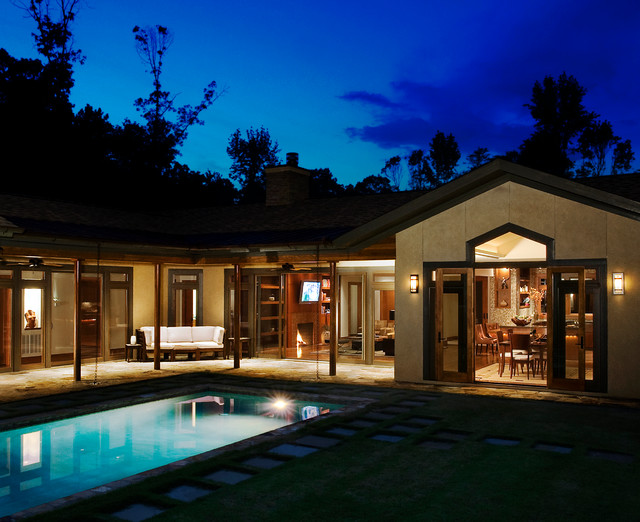 帶游泳池的別墅裝修