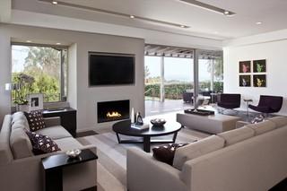 现代简约风格三层小别墅浪漫卧室2013最新客厅效果图