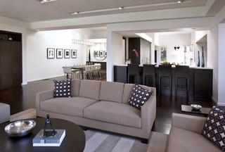 现代简约风格厨房三层平顶别墅浪漫卧室实木沙发客厅图片