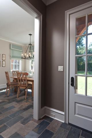 现代简约风格卧室三层平顶别墅温馨装饰中式家装玄关装修效果图