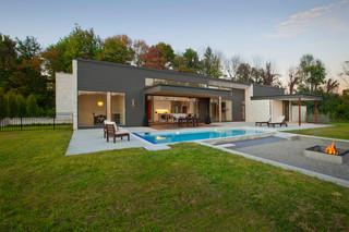 欧式风格家具三层独栋别墅温馨客厅别墅游泳池装修