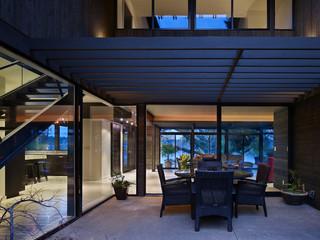 现代简约风格卧室200平米别墅大气别墅露台装修效果图