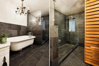 现代简约风格卧室公寓舒适浴缸龙头图片