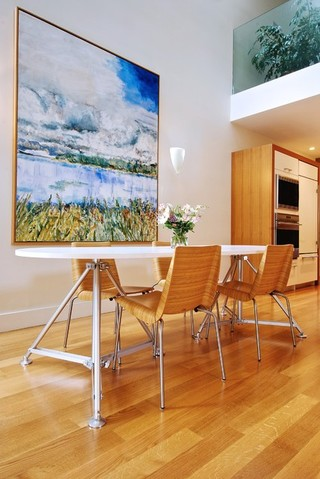 现代简约风格卧室小型公寓大气实木餐桌图片