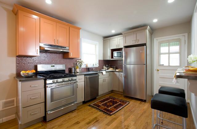 欧式风格小公寓时尚家具不锈钢橱柜图片