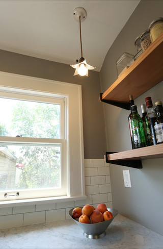 现代美式风格单身公寓厨房小清新室外灯具效果图