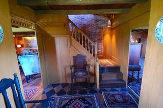 现代东南亚风格公寓另类卧室室内楼梯设计图纸