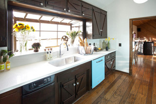 美式乡村风格客厅单身公寓艺术橱柜图片