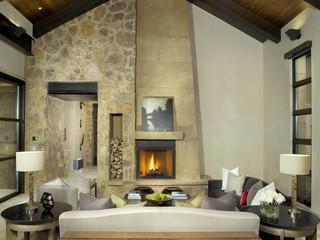 地中海风格家具三层别墅艺术客厅沙发图片