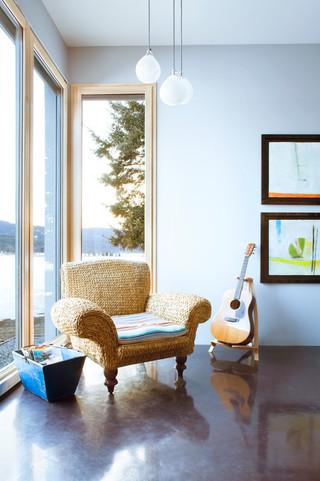 地中海风格酒店公寓唯美两用沙发床效果图