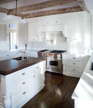 现代简约风格厨房一层半别墅唯美2014厨房吊顶装修效果图