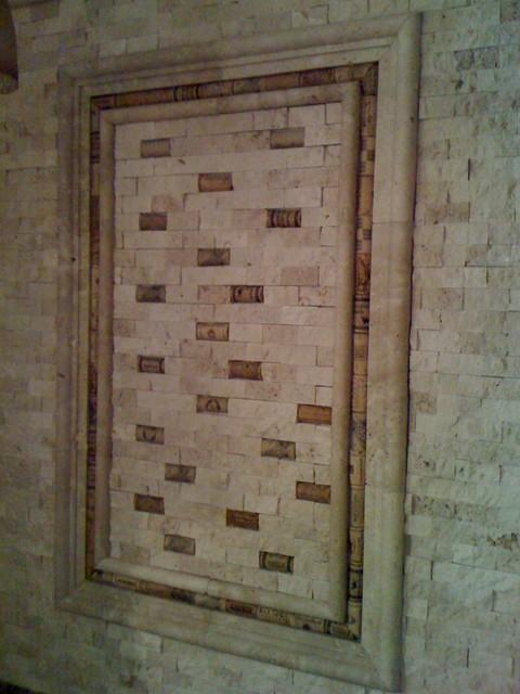 新古典风格老年公寓古典瓷砖电视墙效果图