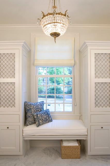 欧式风格客厅2层别墅中式古典家具飘窗效果图高清图片