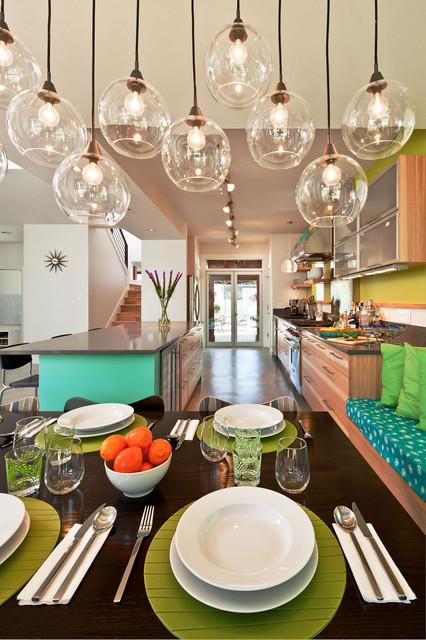 田园风格装饰老年公寓小清新折叠餐桌效果图