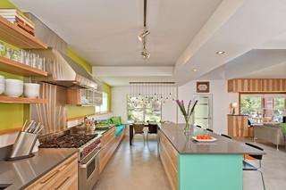 田园风格吊顶复式公寓小清新2014家装厨房效果图