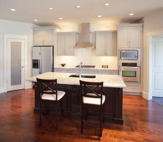 英伦风格三层连体别墅大气4平米小厨房设计图