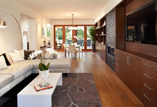 现代简约风格餐厅一层别墅舒适客厅过道吊顶装修效果图