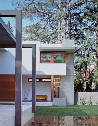 现代简约风格客厅三层别墅大气庭院绿化装修效果图