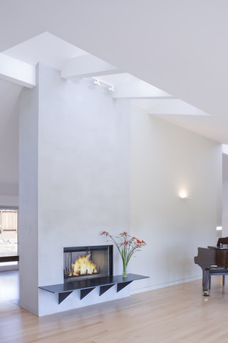 现代简约风格厨房三层平顶别墅客厅简洁家装客厅隔断装修效果图