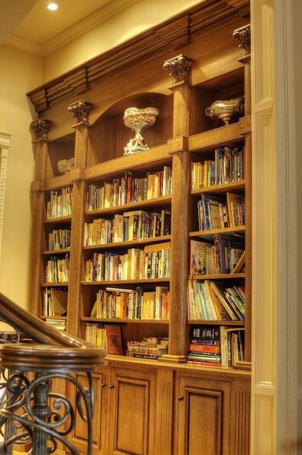 美式乡村风格卧室三层小别墅温馨客厅原木色装修图片高清图片