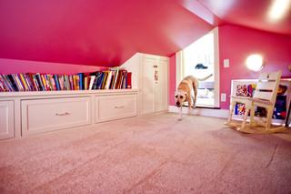 宜家风格客厅三层连体别墅浪漫婚房布置卧室 粉色装修效果图