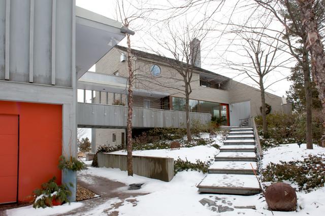 现代简约风格餐厅一层别墅及简洁卧室别墅楼梯设计图