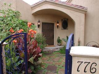 地中海风格家具一层半别墅浪漫婚房布置门厅过道吊顶设计
