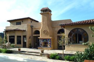 地中海风格家具3层别墅浪漫婚房布置楼顶花园装修效果图