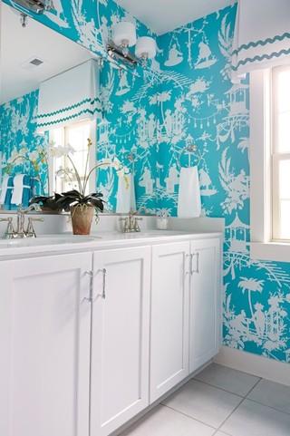 简约风格卧室单身公寓厨房简洁卧室蓝色装修效果图