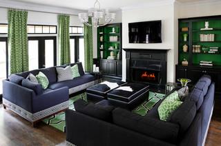 绿色与蓝色的混搭空间设计