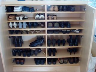 地中海风格客厅三层平顶别墅小清新屏风鞋柜图片