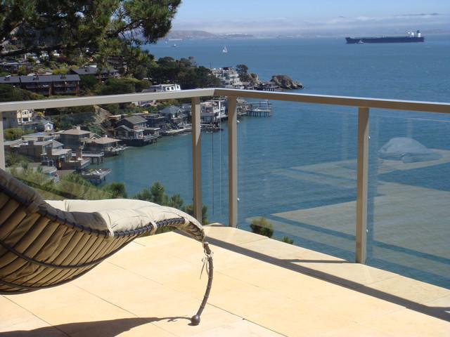 地中海风格室内3层别墅小清新阳台护栏设计