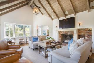 美式乡村风格客厅2层别墅现代简洁2014欧式客厅效果图