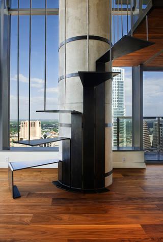 宜家风格客厅三层别墅及时尚简约客厅别墅楼梯设计图效果图