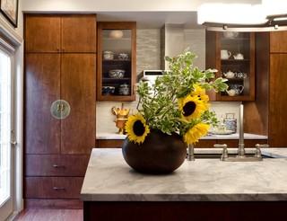 中式风格卧室三层连体别墅实用客厅室内植物图片