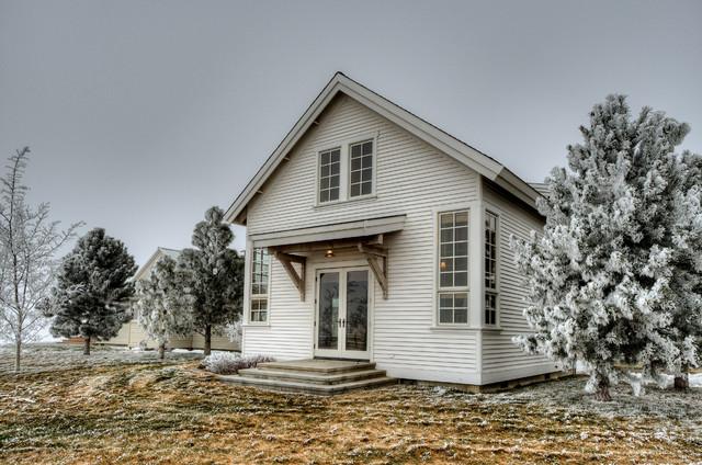 美式乡村风格客厅三层双拼别墅温馨小花园设计图片