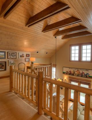 美式乡村风格3层别墅温馨装饰别墅楼梯效果图