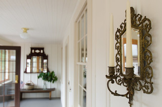 地中海风格卧室三层小别墅浪漫卧室品牌壁灯图片