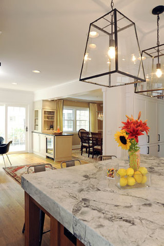 房间欧式风格三层双拼别墅舒适大理石餐桌图片
