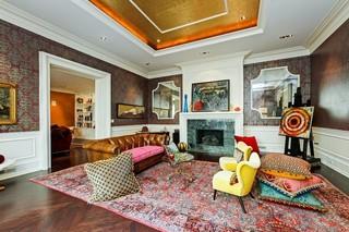 中式风格300平别墅温馨装饰红色橱柜装修图片