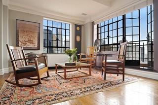 中式风格客厅三层双拼别墅舒适冷色调装修效果图