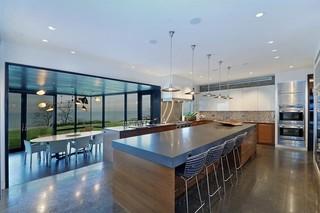 新古典风格一层半小别墅小清新灰色窗帘装修效果图