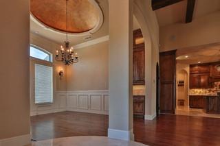 现代美式风格三层半别墅温馨玻璃阳光房装潢