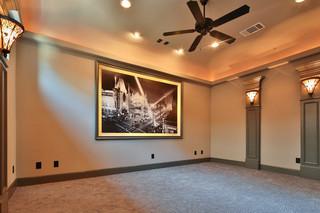现代美式风格三层双拼别墅温馨卧室装修效果图